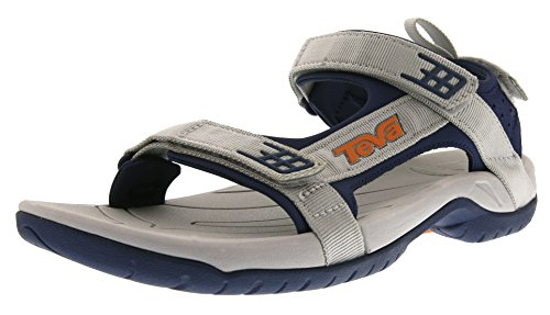 Teva Men's Sanborn Universal Sports and Outdoor Lifestyle Sandal Grey - Grau (Glacier Grey/Navy 903)