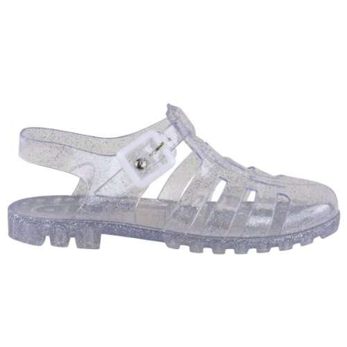 Fashion Thirsty Womens Jelly Summer Sandals Flat Beach Holiday Flip Flops Shoes Size 5