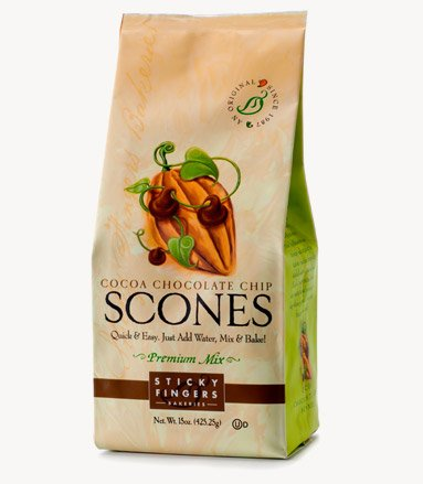 Cherry Scone Mix (Sticky Fingers Bakeries Scone Mix: Pack of 6, 15 oz Scone Mixes (Chocolate Chip))