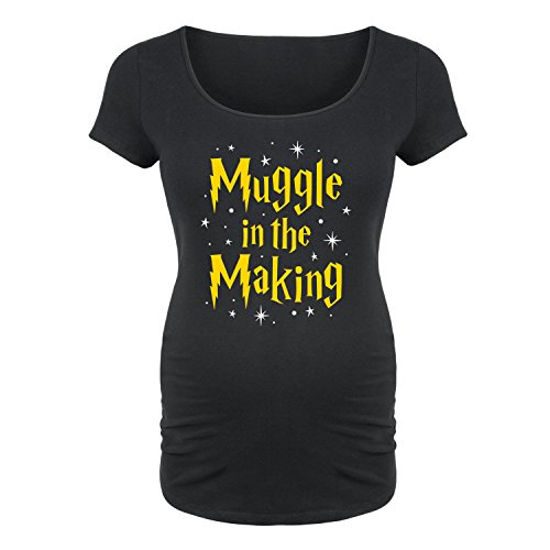 Muggle in The Making -Maternity Scoop Neck TEE-2XL Black
