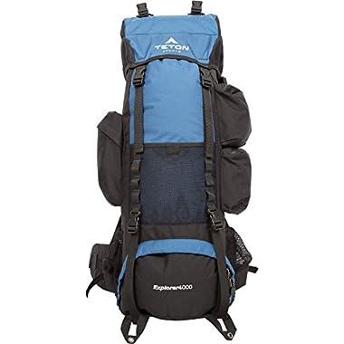 TETON Sports Explorer 4000 Internal Frame Backpack, Navy Blue