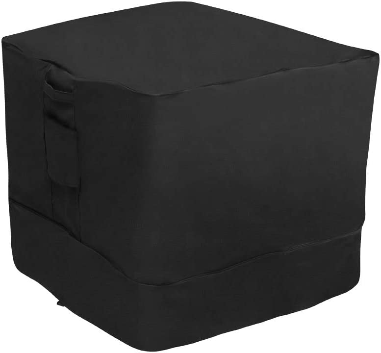 """Stanbroil 34"""" Square Air Conditioner Cover / Fire Pit Cover / Furniture Cover - Weather Resistant PVC Coated Outdoor Furniture Universal Cover with Air Pockets"""