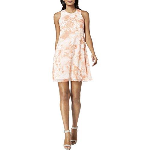 Floral Print Trapeze - Calvin Klein Women's Floral-Print Trapeze Dress (2, Peach Multi)
