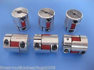 FidgetFidget 10BF 10 mm x 8 mm CNC Flexible Ciruela Acoplamiento Eje acoplador Encode Connect D25 L30