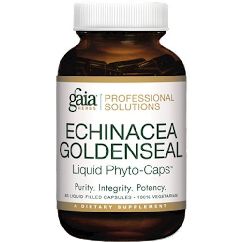 Professional Solutions Echinacea Goldenseal Pro Extract Dietary Supplement - 60 LiquiGels by Gaia Herbs/Professional Solutions (Image #1)