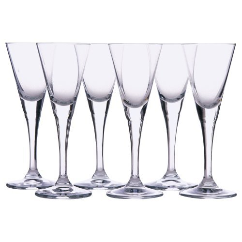 Snaps, Cordial, Schnapps Glass By Ikea- Svalka Series, 1 Oz - 6 Count