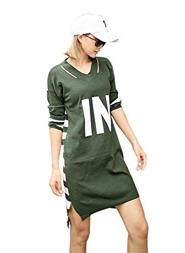 Womens Long Tee Long Sleeve Dress Stylish Simple IN HIP-HOP Girl by G.G.W