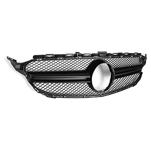 Bumper Grille For 2013-2015 Lexus RX350 RX450h Center Textured Gray Plastic CAPA