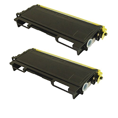 2 Pack Compatible with Brother TN350 Compatible Toner Cartridge for use with Brother HL-2040, HL-2070N, FAX-2820 - Black