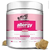 #LightningDeal Pet Parents USA Dog Allergy Relief 4g 90 Count + Dog Immune Support, Dog Itch Relief, Dog Seasonal Allergies - Dog Anti Itch + Hot Spot Treatment – Salmon Oil for Dogs, Bio-Mos, Omega 3 for Dogs