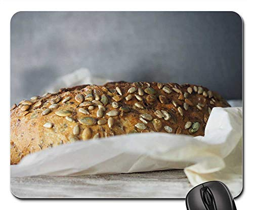 Mouse Pad - Bread Grain Seed Food Wheat Bakery Loaf Whole ()