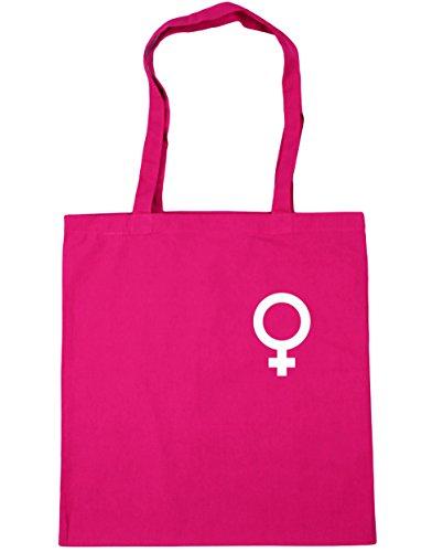 HippoWarehouse 42cm symbol Fuchsia Shopping Gym litres pocket Female x38cm 10 Tote Beach Bag r14qwrBxS