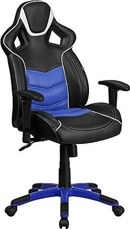 bridgettine high-back Monterey azul Ejecutivo gaming-racing silla giratoria: Amazon.es: Oficina y papelería