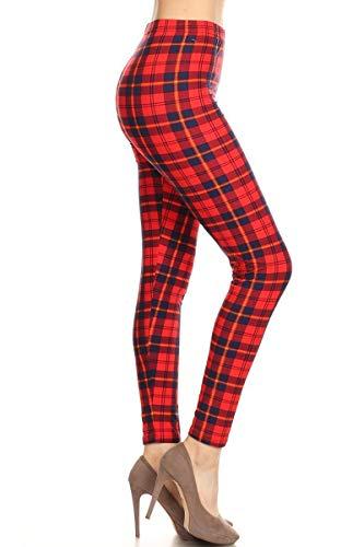 S623-OS Plaid Connoisseur Print Fashion Leggings