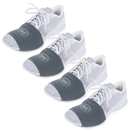 THE DANCESOCKS - Over Sneaker Socks for Dancing on Smooth Floors (4 Pairs - Dark Grey)