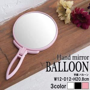 【24個セット】手鏡 BALLOON(パステルピンク) ミラー/鏡/卓上ミラー/2WAY/3倍鏡/ミ   B07NJLF7JN