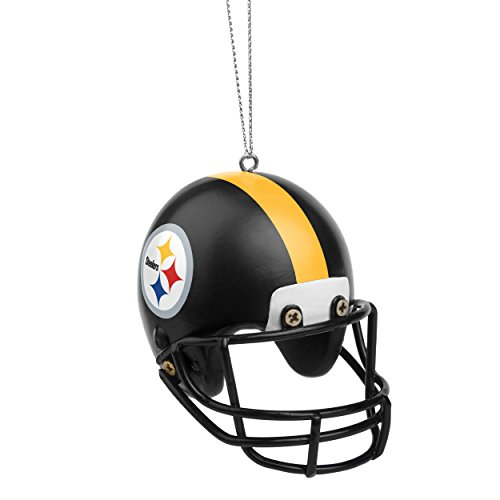 Pittsburgh Steelers Official NFL Holiday Christmas Ornament Resin Helmet by Forever Collectibles - Holiday Nfl Ornaments