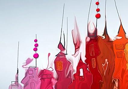 B/&D XXL murando Impression sur Toile intissee 60x40cm 3 Pieces Tableau Tableaux Decoration Murale Photo Image Artistique Photographie Graphique Abstraction Abstrait 020101-126
