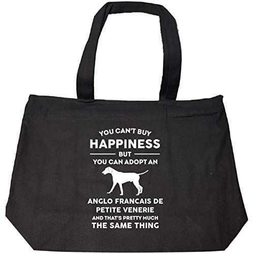 Can't Buy Happiness Adopt Anglo Francais De Petite Venerie - Tote Bag With - Petite Bag Tote Personalized