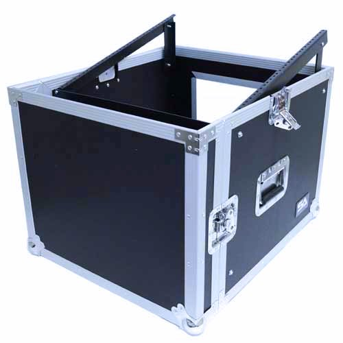 Seismic Audio - SAMRC-8U - 8 Space Rack Case with Slant Mixer Top - PA/DJ Pro Audio Road Case by Seismic Audio (Image #6)