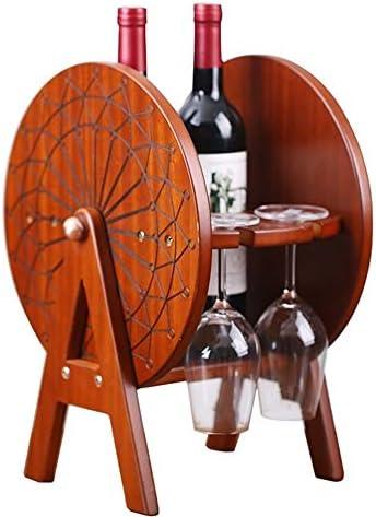 ワイングラスホルダー 木製の装飾ワイングラスを逆さクリエイティブワインハンギング脚付きグラスホルダーラック ワイングラスホルダーガラスハンガーステンレススチールサスペンション (Color : Brown, Size : 28x30x40cm)