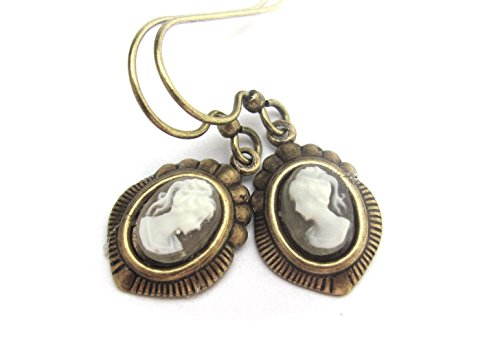 Bohemian Cameo Earrings Dainty Dangle Drop Victorian Style Hawaiibeads Jewelry