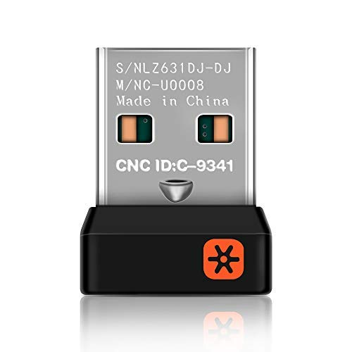 DDSKY USB Unifying Receiver for Mouse and Keyboard, Logitech Unifying Receiver for Up to 6 Devices