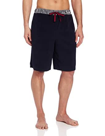 Majestic International Men's Port Of Capri Solid Short With Stripe Waist, Navy, X-Large