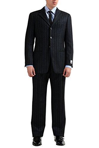 Armani Collezioni Striped Men's 100% Wool Three Button Suit US 38R IT 48R