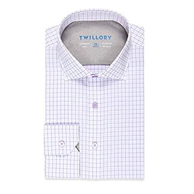 Twillory Tailored Performance Slim Fit Button Down Dress Shirt for Men