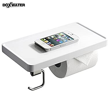 Doxwater® F31011 Bathroom Toilet Paper Holder With Shelf&Hook