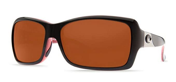 1b378b29bfad Amazon.com: Costa Del Mar Sunglasses - Islamorada- Plastic / Frame: Black  and Coral Lens: Polarized Copper 580P Polycarbonate: Clothing