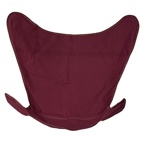 - Solid Burgundy Canvas Butterfly Chair Cover Only
