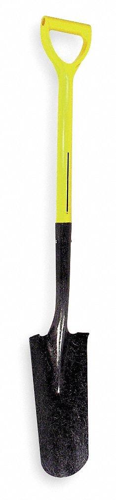 Nupla 72-092 Ergo Power Drain Spades with 14'' x 4-3/4'' Blade and 27'' Fiberglass Core D-Handle