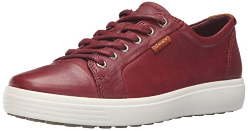 (ECCO Men's Soft 7 Tie Fashion Sneaker, Port, 45 EU / 11-11.5)