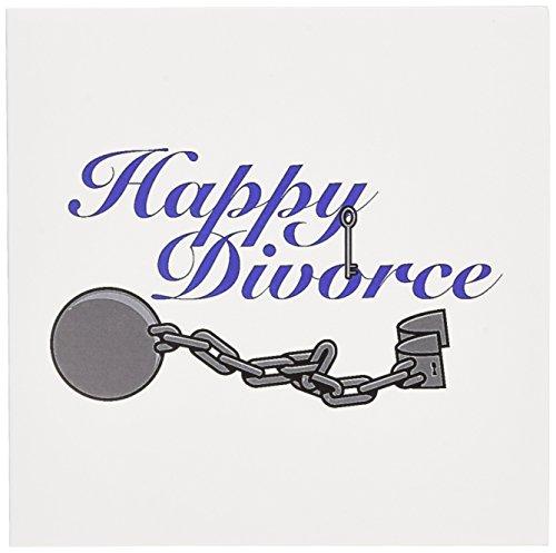 Funny feliz divorcio roto diseño de y cadena de bola-Tarjeta de felicitación, 15.2x 15.2cm, individual (gc 102582_ 5)