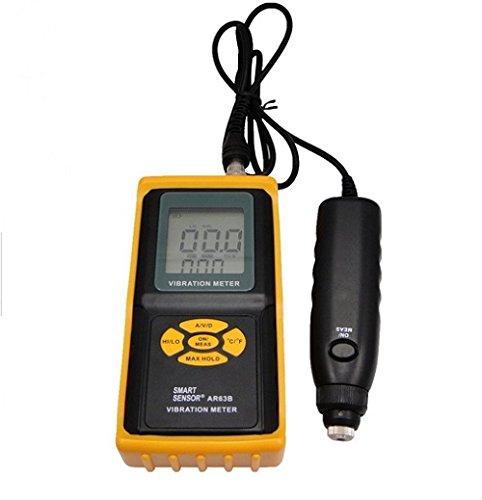 AR63B Digital Precision Vibration Meter Data Logger Tester Gauge Analyzer with Vibrometer Meter Tester Gauge Vibrating Gauge by YUNQI
