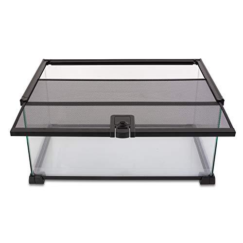 REPTI ZOO 10 Gallon Reptile Tank Glass Natural Cages Terrarium 20