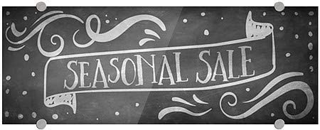 5-Pack Basic Gray Premium Acrylic Sign Seasonal Sale 24x6 CGSignLab