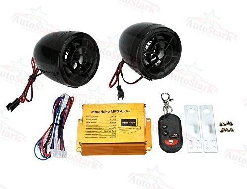 AutoStark Anti Theft Alarm & Audio System MP3 with FM Dual Speaker Function for All Type Bike and scooty