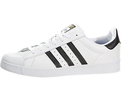 Adidas Originals Men's Superstar Vulc Adv, White/Core Black/White, 11 M US