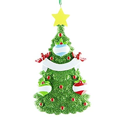 Christmas Tree Decorations Names.Green Christmas Tree Decor Personalised Christmas Xmas Tree Ornament Decoration Get Your Desired Names On The Items A Family Of 3