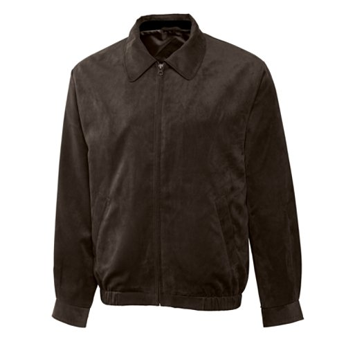 Cutter & Buck Men's Big-Tall Micro Suede City Bomber, Bittersweet, 1X/Big