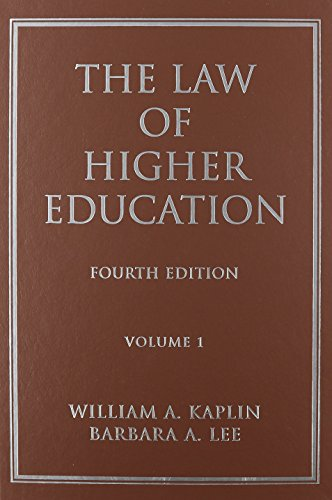 (WCS)Law of Higher Education 4th Edition Volume 1 w/ Volume 2 Index for Capella SET