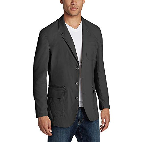 Eddie Bauer Men's Voyager 2.0 Travel Blazer Tall, Dk Slate Tall 44 (Travel Sport Coat)