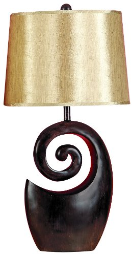 Deco 79 95642 Gold and Brown Polystone Table Lamp (Table Polystone)