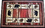 Dean Vogel Bear Lodge Cabin Bear Panel Area Rug Size: 5'3″ x 7'3″
