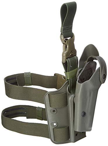 Safariland 6005 Tactical Gun Holster, SLS Hood, Quick Release Leg Harness, Foilage Green, Left Handed, Glock 17, 22
