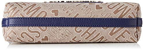jacquard Donna Naturale X L Love Borsa Cm 15x10x15 Tess Moschino Tracolla A pu H Blu w EqwtU8Zxt