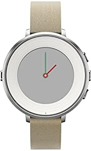 Pebble Time Round 14mm Smartwatch for Apple/Android Devices - Silver/Stone